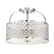 Filament Design 3-Light Chrome Semi-Flush Mount (STL-SVS474820)