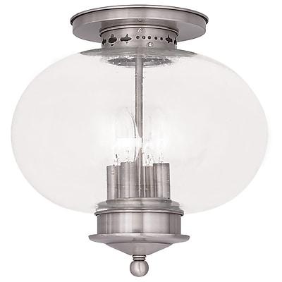 Livex Lighting 4-Light Brushed Nickel Flush Mount (5038-91)
