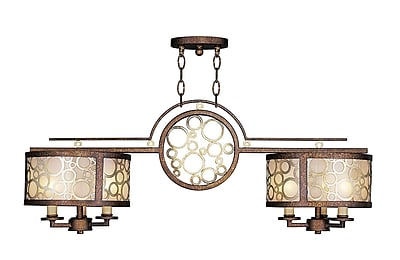 Livex Lighting 6-Light Palacial Bronze with Gilded Accents Island Pendant (8672-64)