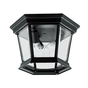 Livex Lighting 3-Light Black Candelabra Flush Mount (7510-04)