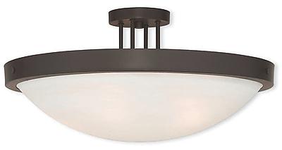 Livex Lighting 5-Light Bronze Flush Mount (73958-07)
