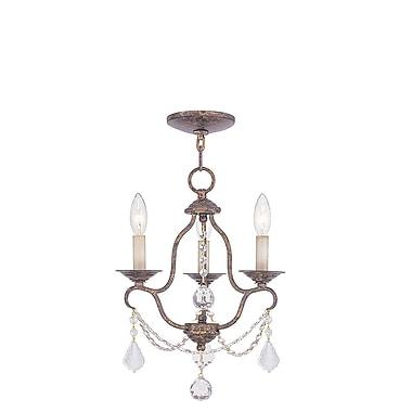 Livex Lighting 3-Light Venetian Golden Bronze Chandelier (6423-71)