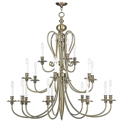 Livex Lighting 18-Light Antique Brass Chandelier (5179-01)