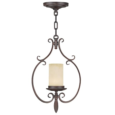 Livex Lighting 1-Light Imperial Bronze Mini Pendant (5480-58)