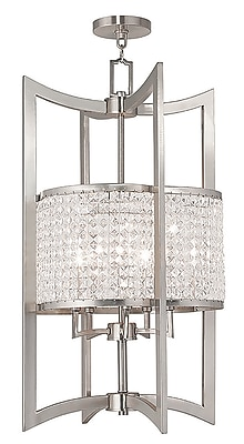Livex Lighting 5-Light Brushed Nickel Pendant (50569-91)