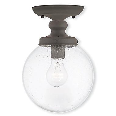 Livex Lighting 1-Light Bronze Flush Mount (50911-07)