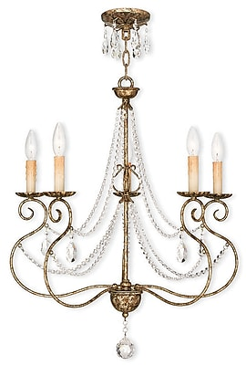 Livex Lighting 5-Light European Bronze Chandelier (51905-36)