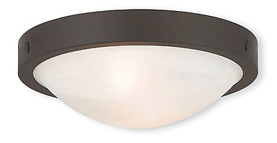 Livex Lighting 2-Light Bronze Flush Mount (73951-07)