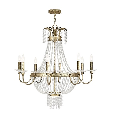 Livex Lighting 8-Light Winter Gold Chandelier (51848-28)