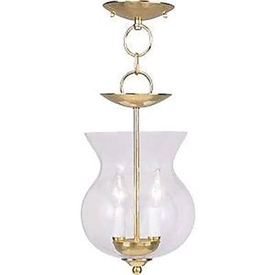 Livex Lighting 2-Light Polished Brass Pendant (4392-02)
