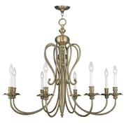 Livex Lighting 8-Light Antique Brass Chandelier (5168-01)