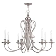 Livex Lighting 8-Light Polished Nickel Chandelier (5168-35)