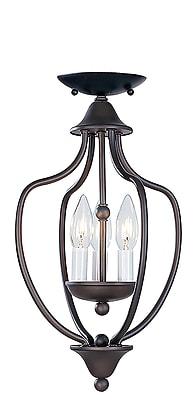 Livex Lighting 3-Light Bronze Semi-Flush Mount (4170-07)