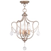 Livex Lighting 4-Light Antique Silver Leaf Convertible Semi-Flush Mount (6434-73)
