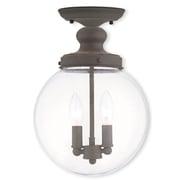 Livex Lighting 2-Light Bronze Flush Mount (50903-07)