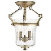 Livex Lighting 2-Light Antique Brass Flush Mount (50921-01)