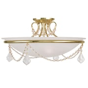 Livex Lighting 3-Light Polished Brass Semi-Flush Mount (6525-02)