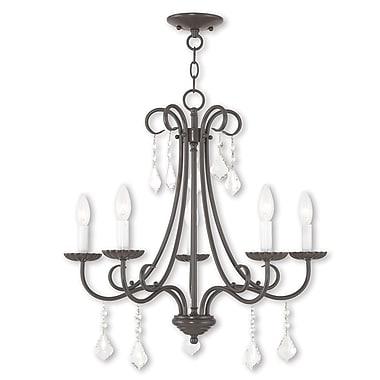 Livex Lighting 5-Light English Bronze Chandelier (40875-92)