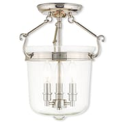 Livex Lighting 3-Light Polished Nickel Flush Mount (50483-35)