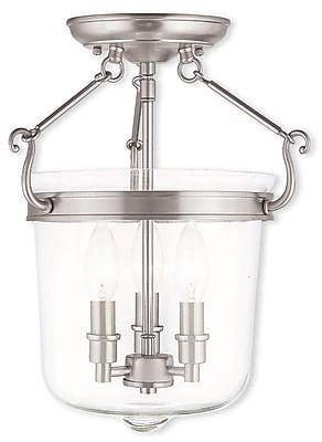 Livex Lighting 3-Light Brushed Nickel Flush Mount (50483-91)