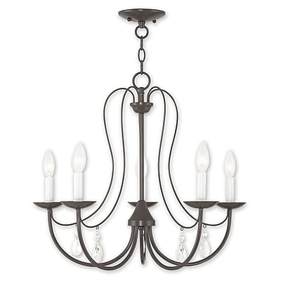 Livex Lighting 5-Light English Bronze Chandelier (40865-92)