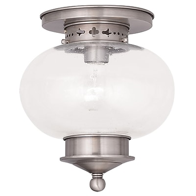 Livex Lighting 1-Light Brushed Nickel Flush Mount (5036-91)