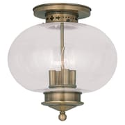 Livex Lighting 4-Light Antique Brass Flush Mount (5038-01)