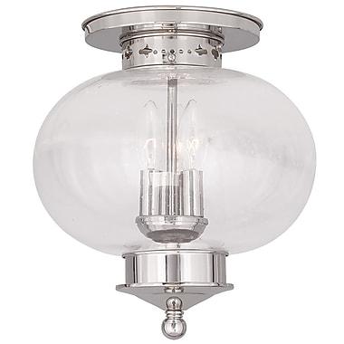 Livex Lighting 3-Light Polished Nickel Flush Mount (5037-35)