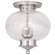 Livex Lighting 3-Light Polished Nickel Flush Mount (5037-35)
