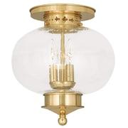 Livex Lighting 3-Light Polished Brass Flush Mount (5037-02)