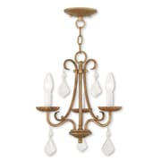 Livex Lighting 3-Light Antique Gold Leaf Mini Chandelier (40873-48)