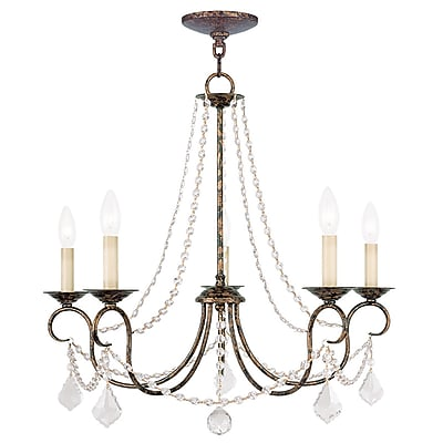 Livex Lighting 5-Light Venetian Golden Bronze Chandelier (6515-71)