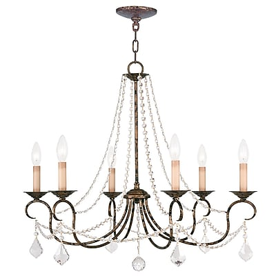 Livex Lighting 6-Light Venetian Golden Bronze Chandelier (6516-71)