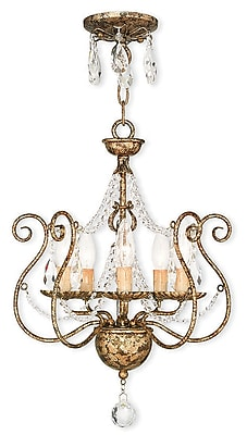 Livex Lighting 5-Light European Bronze Mini Chandelier (51915-36)