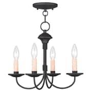 Livex Lighting 4-Light Black Convertible Semi-Flush Mount (4524-04)