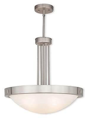 Livex Lighting 4-Light Brushed Nickel Pendant (73964-91)
