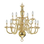 Livex Lighting 12-Light Polished Brass Chandelier (5312-02)
