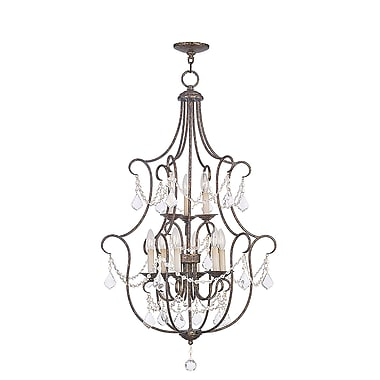Livex Lighting 9-Light Hand Applied Venetian Golden Bronze Foyer (6449-71)
