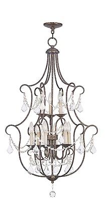 Livex Lighting 9-Light Hand Applied Venetian Golden Bronze Foyer (6449-71)