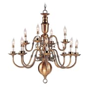 Livex Lighting 12-Light Flemish Brass Chandelier (5312-22)