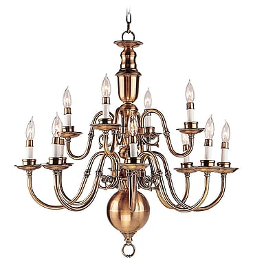 Livex Lighting 12-Light Flemish Brass Chandelier (5312-22)