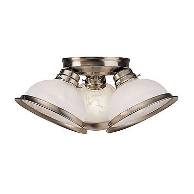 Livex Lighting 3-Light Brushed Nickel Flush Mount (8108-91)