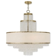 Livex Lighting 8-Light Winter Gold Chandelier with Off-White Sheer Organza Shade (50788-28)