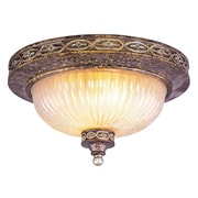 Livex Lighting 2-Light Palatial Bronze with Gilded Accents Flush Mount (8543-64)