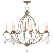 Livex Lighting 8-Light Antique Gold Leaf Chandelier (6428-48)