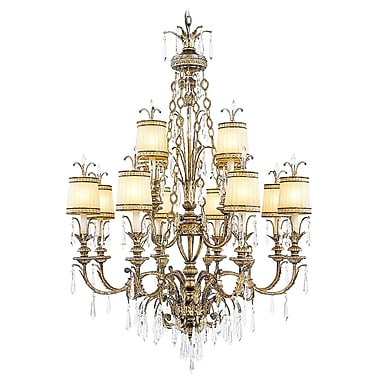 Livex Lighting 12-Light Vintage Gold Leaf Chandelier (8809-65)