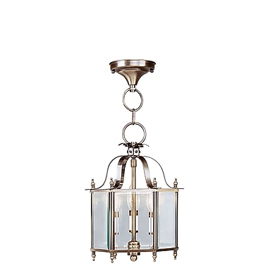 Livex Lighting 2-Light Antique Brass Semi-Flush Mount (4403-01)