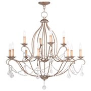 Livex Lighting 12-Light Antique Silver Leaf Chandelier (6438-73)