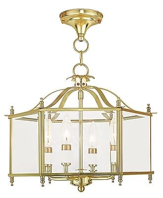 Livex Lighting 4-Light Polished Brass Pendant (4398-02)