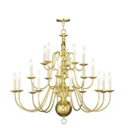 Livex Lighting 20-Light Polished Brass Chandelier (5019-02)